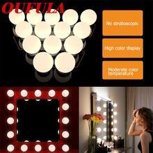 Oufula светодиодный зеркальный светильник usb в голливудском