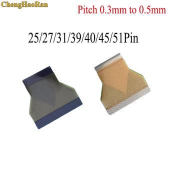 ChengHaoRan, 1 Uds., inclinación de 0,3mm a 0,5mm, 25/27/31/39/40/45/51 Pin FFC FPC, Cable plano Flexible para LCD