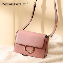 NEVEROUT High Quality Genuine Leather Shoulder Bag Candy Color Women Crossbody Bags Sac a Main Luxury Handbags Black/Red/Taro