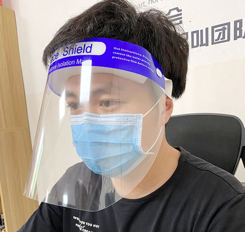 10 Pcs Safety Protection Facial Shield Cover Anti-spittle Anti-dust Full Face Cover Protect Eyes Plastic Clear Mask