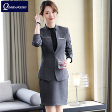 women office blazer high quality more size black ladies outerwear work tops
