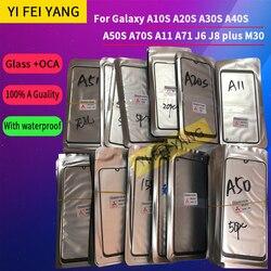 10 шт./лот стекло + OCA LCD передняя внешняя линза для Samsung Galaxy A10S A20S A30S A40S A50S A70S A11 A71 J6 J8 plus M30 сенсорный экран