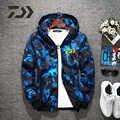 가을 새로운 낚시 재킷 인쇄 스포츠 후드 남자 태양 보호 야외 실행 골프 사이클링 하이킹 셔츠 낚시 의류