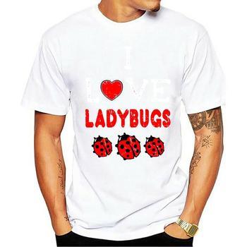 T Shirt 2020 marka erkek üstleri Streetwear T Shirt baskı gömlek kısa kollu üst Tee erkek komik Tshirt için aşk bayan böcek