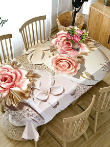 Tablecloth Wedding-Table-Cover Rectangular Dinner Home-Decoration Cotton Dustproof Party