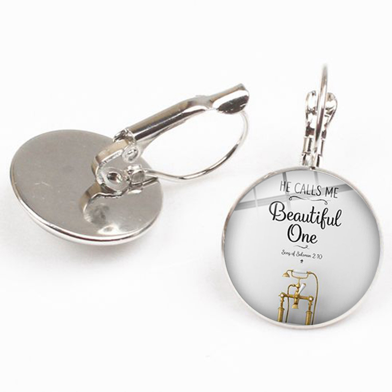 New She Is More Precious Than Gems Earrings Handmade Gift Bible Verses 31 10 Scripture Earrings Quote Jewelry Religious Souvenir in Drop Earrings from Jewelry Accessories