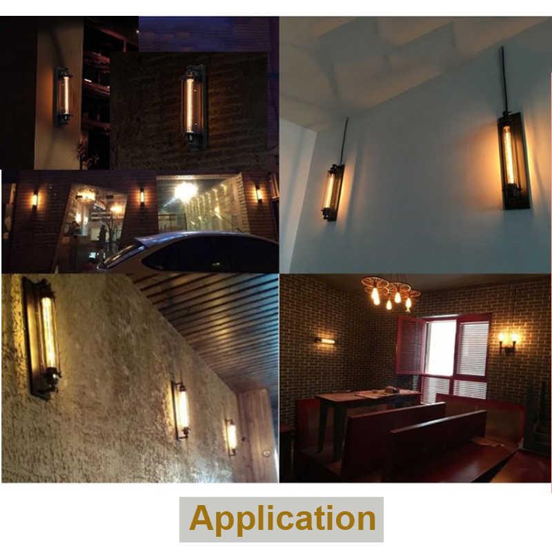 Industrial Vintage Lampu Dinding Hitam Perak Tembaga 8W LED Lampu Kamar Tidur Cafe Restaurant Wall Sconce Lampu Samping Tempat Tidur Lampu