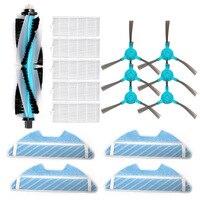 Poeira hepa filtro lateral escova mop almofada rolo escova para cocotec conga 1390 cocotec conga 1290 aspirador de pó robótico peças de reposição Peças p/ aspirador de pó     -