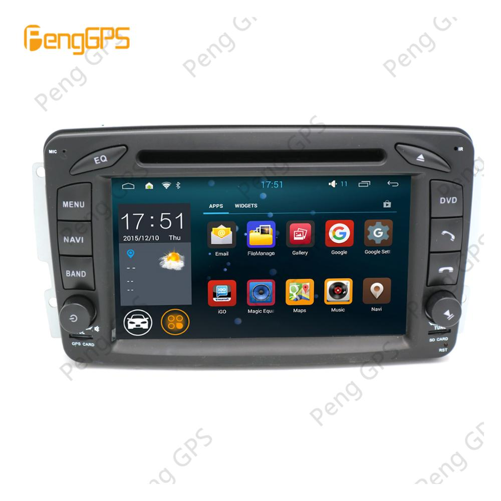 Quad Core CD DVD Player 2 Din Stereo <font><b>Android</b></font> Car Radio for Benz C-<font><b>W203</b></font> W209 G-W463 <font><b>GPS</b></font> Navigation Unit FM/AM Stereo image