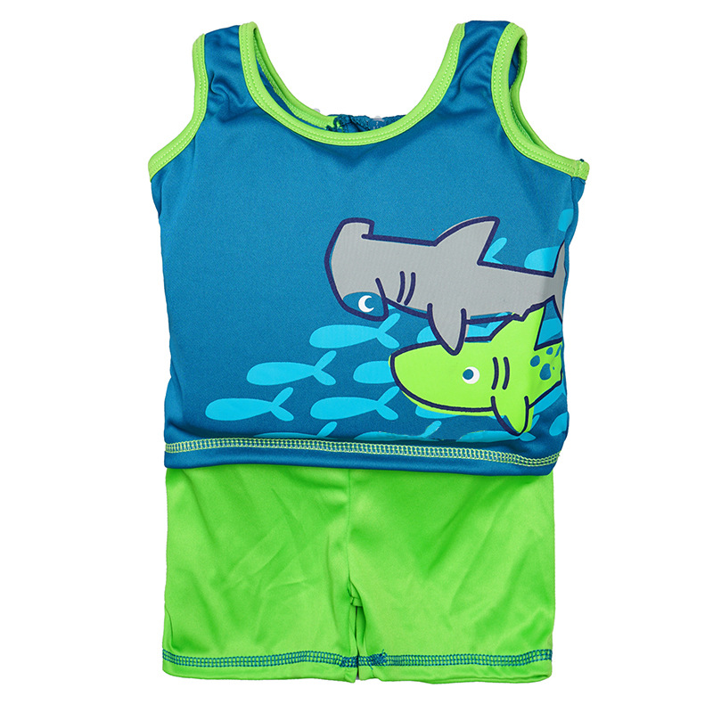 Cross Border For Wish Amazon Hot Selling One-piece Fu Li Yi Children Learning Swimming Safety Clothing Manufacturers Direct Supp