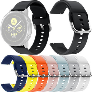 Sports Silicone Replacement Watch Band Straps for Samsung Galaxy Watch Active Bracelet Strap Watch Wrist Belt 8 Colors 19Nov06