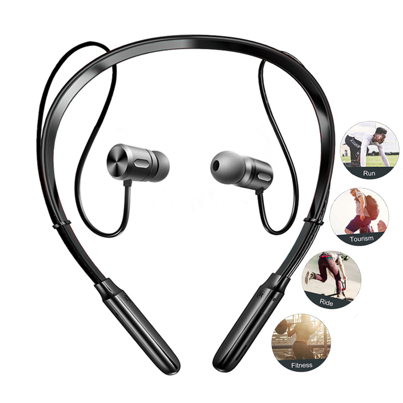 BC10 Bluetooth Headphones Wireless Earphone Bluetooth Sport Headset Bass Neckband Earbuds With Mic For Phones Xiaomi By FBYEG