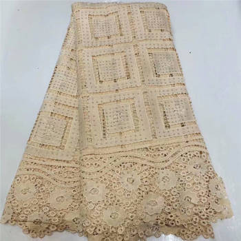 African French Lace Fabric High Quality Tulle Net Lace Fabric 5 Yards Embroidery Nigerian Lace Fabric For Women Wedding SL242