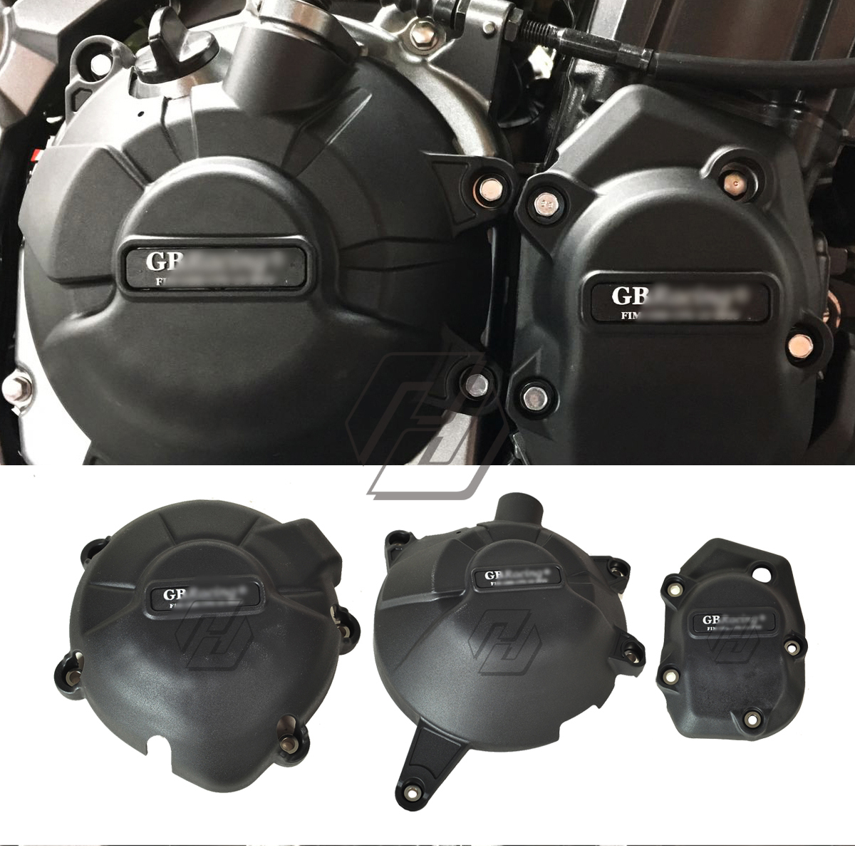 Motorcycle Engine Cover Water Pump Covers Set Case for GB Racing for <font><b>Kawasaki</b></font> NINJA <font><b>Z900</b></font> 2017 2018 <font><b>2019</b></font> image