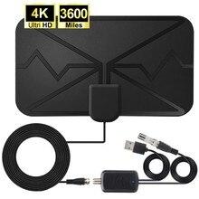 3600 milhas 4k antena digital tv interior amplificador sinal impulsionador DVB-T2 hdtv antena antena digital canal transmissão