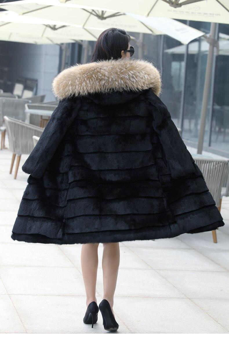 90% Duck Down Jacket Women Real Raccoon Fur Coat 2020 Winter Female Warm Hooded Long Parka Mujer Chaquetas Plumas LX2380