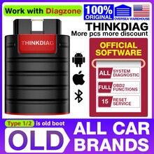 ThinkDiag – outil de Diagnostic de voiture, avec Code ECU, câble OBD2, toutes les marques, toute remise à zéro, 1 an, gratuit, 2021