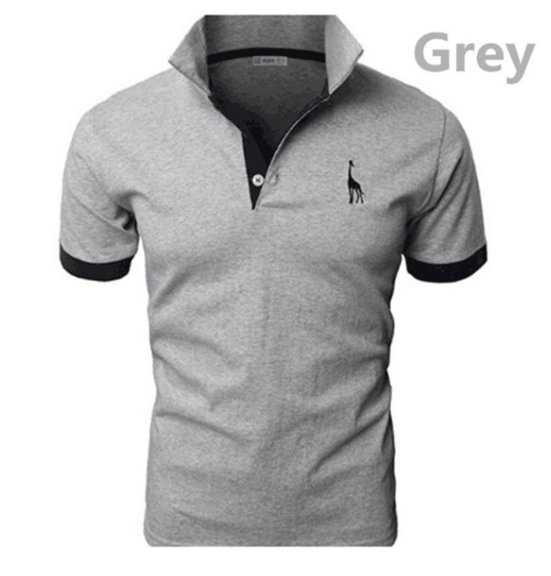 2019 New Casual Man T Shirt Mens Casual Deer Embroidery Cotton Men Short Sleeve Good Quantity T-shirt Men Asian Size 5XL