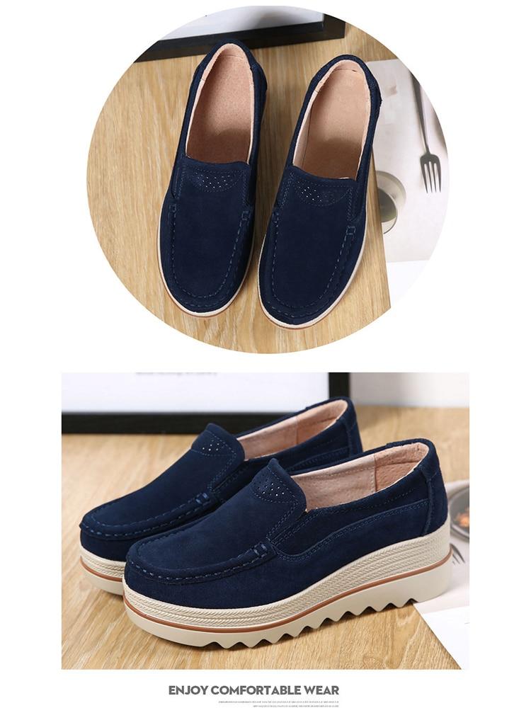 Women Flats Plus Size Increase Wedge Flat Shoes Women Fashion Moccasins Ladies Female Footwear Sneaker Zapatos De Mujer VT613 (9)