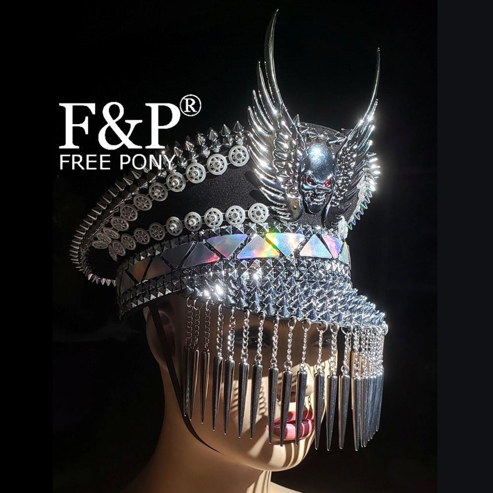 Burning Man Festival Captain Hat  Officer Hat Military Captains Rave Hat Dancer Hat  Costumes Gypsy Boho Hippie Headpiece