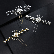 Fashion Bridal Hair Accessories Pearl Beaded Flower Hair Pin Stick Wedding Jewelry New