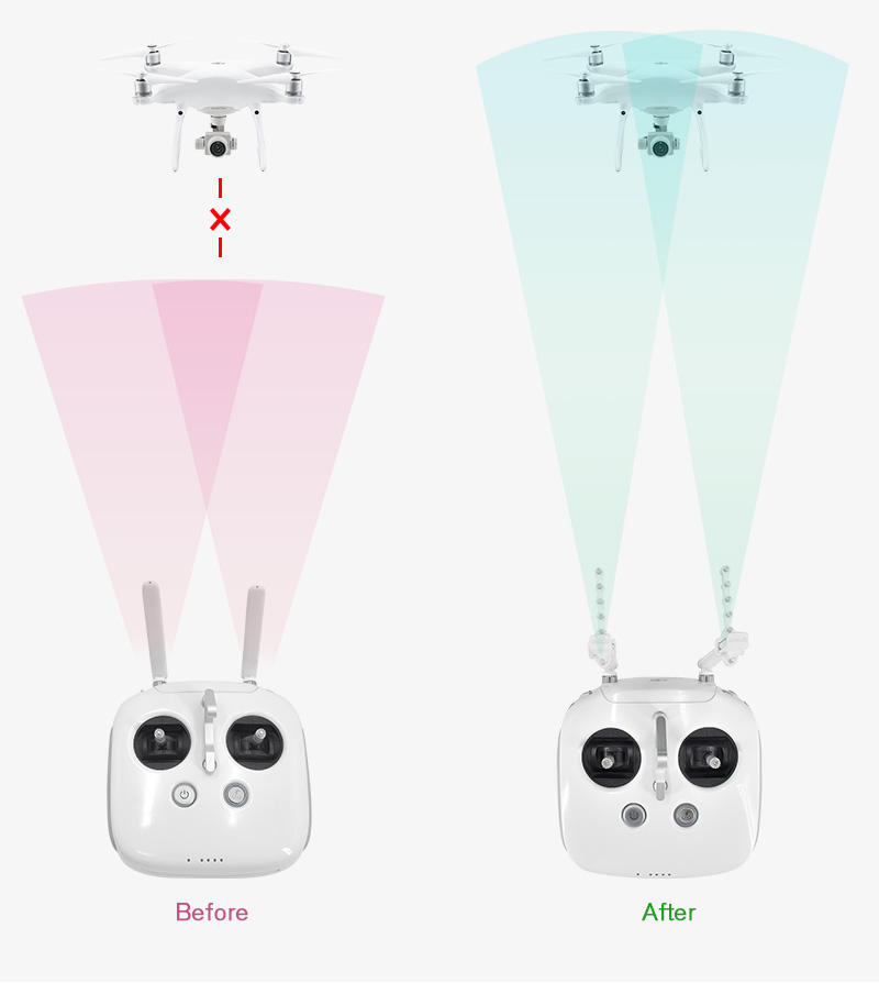 Yagi Antenna Signal Booster Amplifier for DJI Phantom 3//4 inspire Remote Control