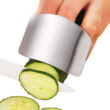 Chop Safe Slice Kitchen Tool Stainless Steel Metal Finger Hand Protector Guard Ferramentas Cozinha Gadgets Accessories Kitchen liflicon silicone finger protector hand cut knife cutting finger protection tool for cutting slice chop safe cooking protection