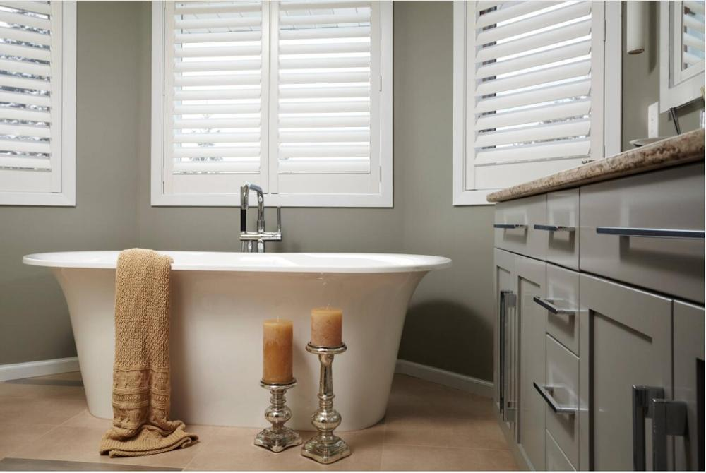 Custom Basswood Plantation Shutters Wooden Blinds Solid Wood Shutter Louvers PS270