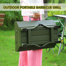 Portable Outdoor BBQ Grill Patio Camping Picnic Barbecue Stove Suitable For 3-5 People charcoal grill korean bbq grill table