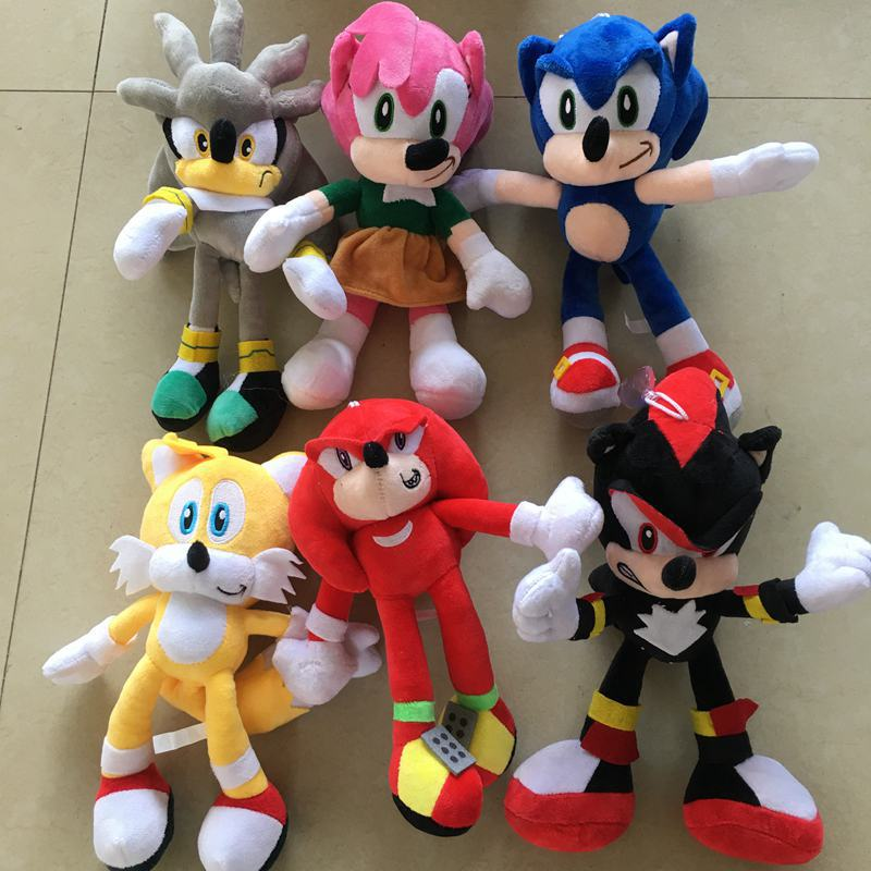 Cute 1PC Super Sonic Toy Hedgehog Plush Soft Toys 23cm Shadow The Hedgehog Plush Stuffed Kids Adults Birthday Christmas Gifts