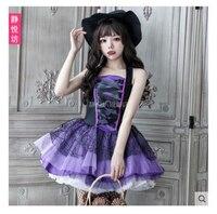 Lolita Halloween Costume Adult Witch Vampire Masquerade Suit Cosplay Costume H