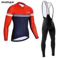 Zestaw koszulek rowerowych PHMAX z długim rękawem Ropa Maillot Ciclismo rower wyścigowy nosić odzież zestaw rowerowy wiosna MTB ubrania do jazdy rowerem w Zestawy rowerowe od Sport i rozrywka na