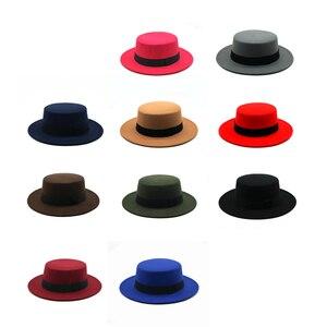 Winter Autumn Imitation Woolen Women Men Ladies Fedoras Top Jazz Hat European American Round Caps Bowler Hats Feminino Gorra