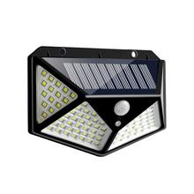 100 LED lampa słoneczna zewnętrzna lampa solarna PIR Motion Sensor kinkiety wodoodporna zasilana energią słoneczną Sunlights dekoracja do przydomowego ogrodu tanie tanio oobest 100 LED Solar Power Wall Light 1year IP65 Klin Żarówki led ART DECO Awaryjne Bateria litowa LED Wall Lamp four-sided light 100LED