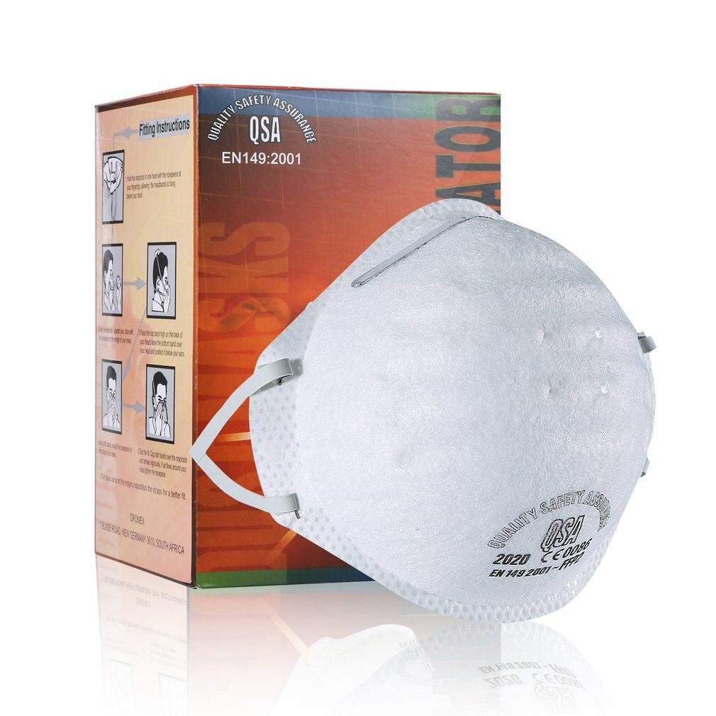 1/5/10/20/50 Pcs Ffp2 Maske Mit Ventil Vlies Staub Maske Anti PM 2,5 Anti-Influenza Atmen Fahrrad Reit Maske Sicherheit Masken