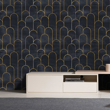 Background Wallpaper PVC Removable Self-Adhesive Sticker Modern Home Waterproof Wall Mural removable wall decals for home decor