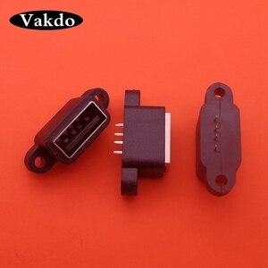 Image 1 - 20pcs עמיד למים USB 2.0 טעינת נתונים זנב התוספת USB Built in ממשק יציאת מחבר תקע שקע שקע