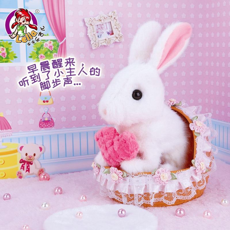 Дети Электрический мягкий плюшевый робот кролик игрушки могут прыгать ходьба моделирование животные игрушки для детей рождественские