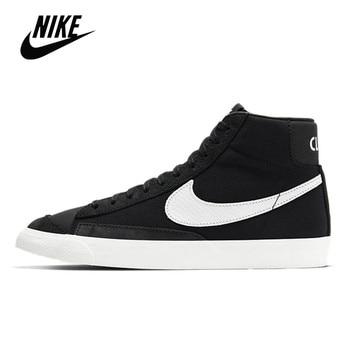 Original Nike Blazer Mid 77 Vintage Brick black mid-top casual sports skateboard shoes for men Unisex women Sneaker CD8233-001