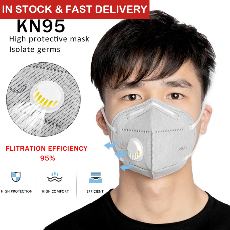 5/10pcs KN95 Face Mask Valve 2.5 Dustproof Windproof Respirator Anti-Fog Anti-Bacteria Dust-proof Yellow Sand Outdoor Mask