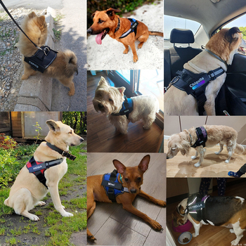 Dog Harness NO PULL Reflective Breathable Adjustable Pet Harness Vest   6