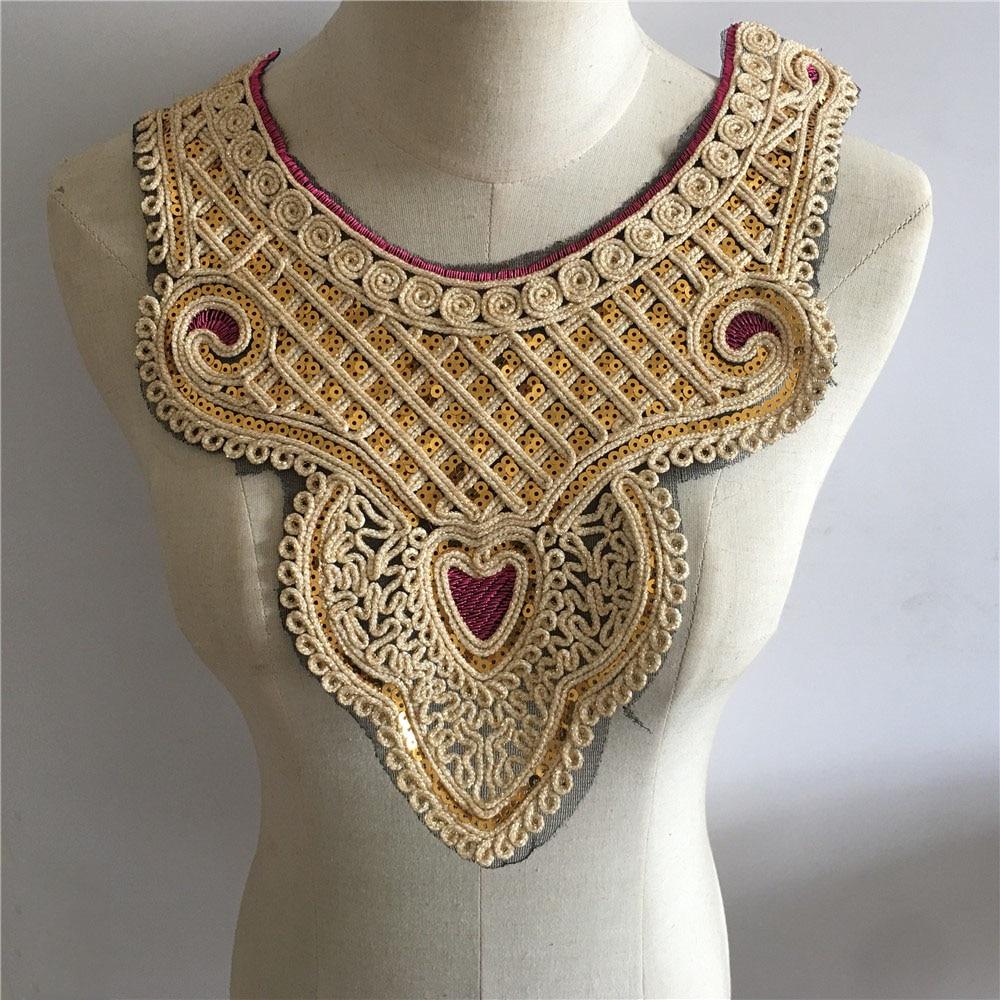 Разные стили, воротник с блестками, кружевной воротник, сделай сам, вышивка, тюль, кружево, декольте, украшение одежды, Швейные аксессуары