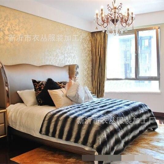 Artificiale imitazione della pelliccia del coniglio coperta per divano di casa 150x200cm