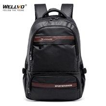 Bağbozumu erkekler sırt çantası büyük naylon seyahat Laptop çantası genç okul sırt çantaları erkek Patchwork Schoolbag Mochila siyah XA129C