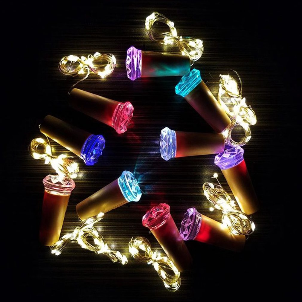 Diamond Cork Light String Indoor Decoration Light String Wedding Birthday Party Light Romantic Ambient Light