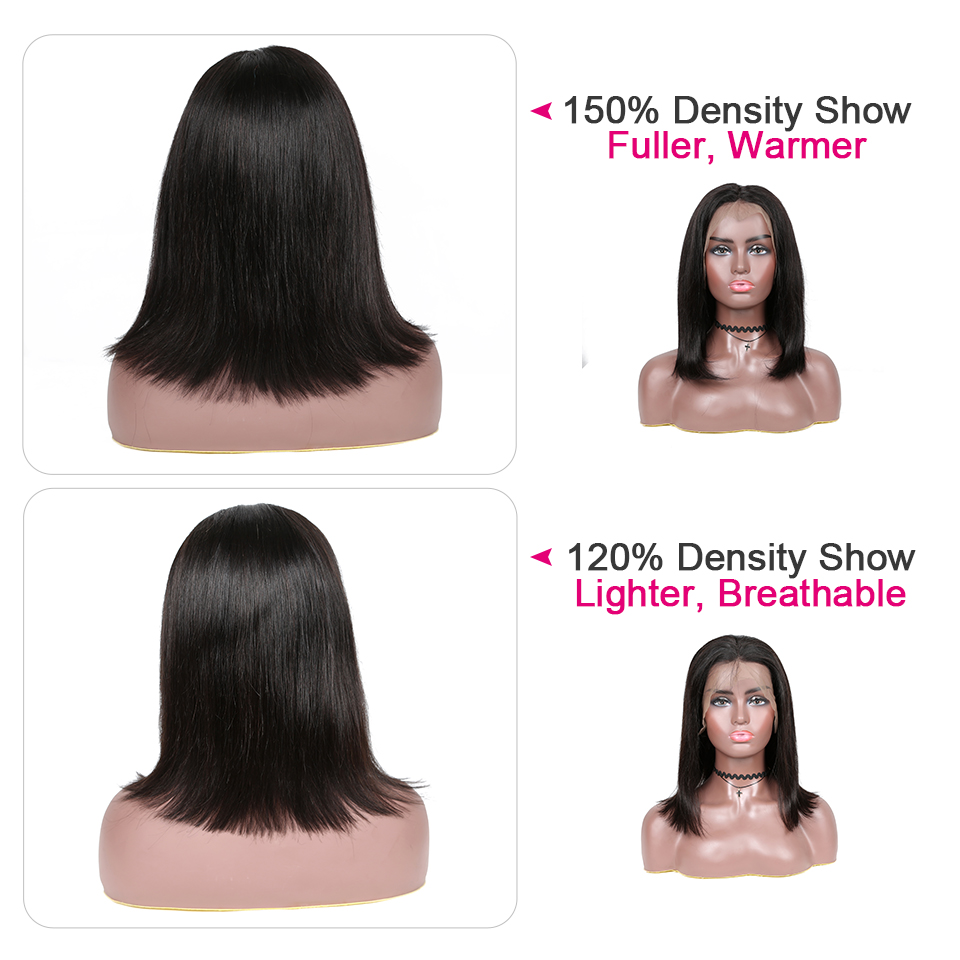 Yyong 13x4 Blunt Cut Bob Wig Short Lace Front  Wigs   Straight Bob Wigs With Baby Hair 4X4 Closure Bobg 4