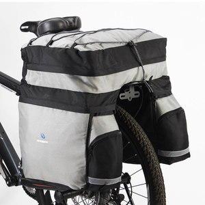 ROSWHEEL 60L MTB сумка для переноски велосипеда задняя стойка велосипедная Сумка на багажник, багаж Pannier на заднее сиденье Двусторонняя велосипедн...