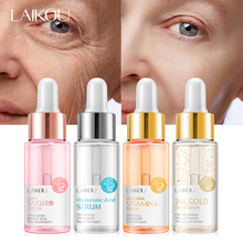LAIKOU Sakura Vitamin C 24K Gold Face Serum Hyaluronic Acid Shrink Pores Remove Acne Moisturizing Essence Brighten Facial Skin