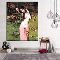 Shy Girl DIY Painting By Numbers Calligraphy Painting Acrylic Paint By Numbers Wall Art Picture For Home Decors Art