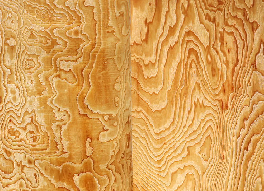 3x Natural Veneer Genuine Ash Burl Swirl Decorative Sliced Veneer For Furniture 62x260cm 40x250cm 35x250cm